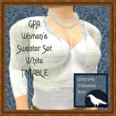 GPA Women's Sweater Set - White Tintable