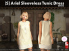 s  ariel sleeveless tunic dress white pic