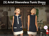 s  ariel sleeveless tunic dress blue pic