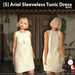 s  ariel sleeveless tunic dress white ad
