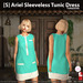 s  ariel sleeveless tunic dress turquoise ad
