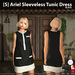 s  ariel sleeveless tunic dress black ad