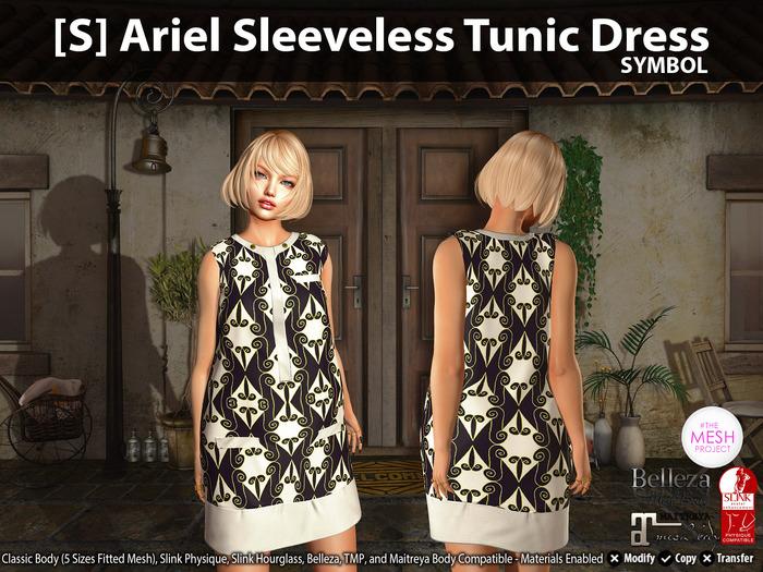 [S] Ariel Sleeveless Tunic Dress Symbol