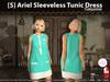 [S] Ariel Sleeveless Tunic Dress Turquoise