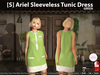 [S] Ariel Sleeveless Tunic Dress Green