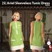 s  ariel sleeveless tunic dress green ad