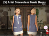 [S] Ariel Sleeveless Tunic Dress Taro