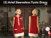 [S] Ariel Sleeveless Tunic Dress Red