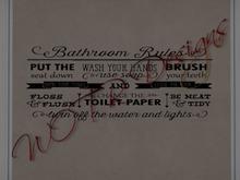 Bathroom Rules 1