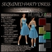 ~JJ~ Sequined Party Dress (FATpack)