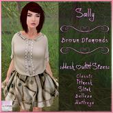 Sally Dress Brown Diamonds