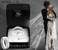 Ecarlate - Engagement Ring + Alliance Women & Men - Silver - Juany