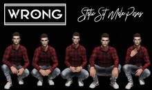 WRONG - Sit Static Male Poses 3