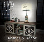 [BR] Weathered Cabinet with Deco