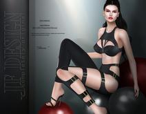 "JF Design ""Rena"" [Maitreya/Belleza] Top/Pants - Black DEMO"