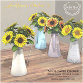 {what next} Sunflowers Pitcher