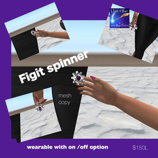 Figit spinner wearable with on/off option-Bag