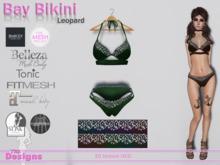 Bay Bikini With Hud Leopard