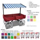 *AQF* Painted Wagon with Awning