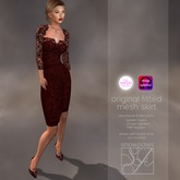 Snowpaws - Madchen Red Lace Dress