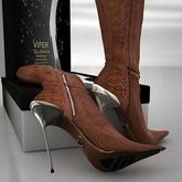 Viper Brown Crocodile  Boots