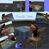 Build a Puzzle table & chair set-Crate