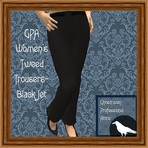 GPA Women's Trousers Tweed - Black Jet
