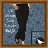 GPA Women's Trousers Tweed Black Jet (ADD TO UNPACK)