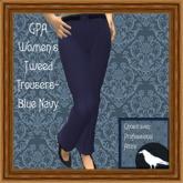 GPA Women's Trousers Tweed - Blue Navy
