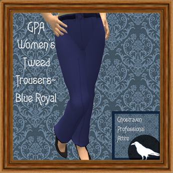 GPA Women's Trousers Tweed - Blue Royal