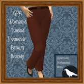 GPA Women's Trousers Tweed - Brown Brandy