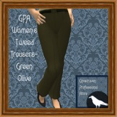 GPA Women's Trousers Tweed - Green Olive