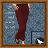 GPA Women's Trousers Tweed - Red Dark