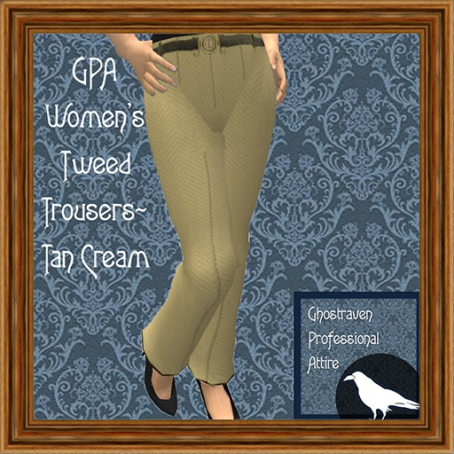 GPA Women's Trousers Tweed Tan Cream (ADD TO UNPACK)