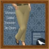 GPA Women's Trousers Tweed - Tan Cream