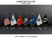 MD US Military Flag Set