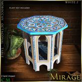 =Mirage= Octogonal Moroccan Table - White 2