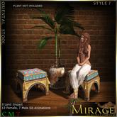 =Mirage= Oriental Stool - Style 7