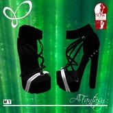 Afantasy HIGH SLINK Black & White 'Lora' Chunky Heels
