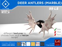 Deer Antlers (Marble) (Mesh, PG, HUD)