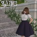 Zan's Little lady set (skirt) (dark colors and white)