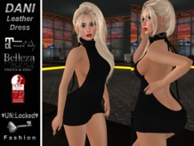 ♥UN:Locked♥ Fashion - Dani Leather Dress (Black)
