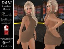 ♥UN:Locked♥ Fashion - Dani Leather Dress (Brown)