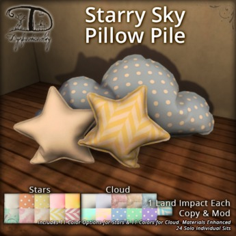 [DDD] Starry Sky Pillow Pile