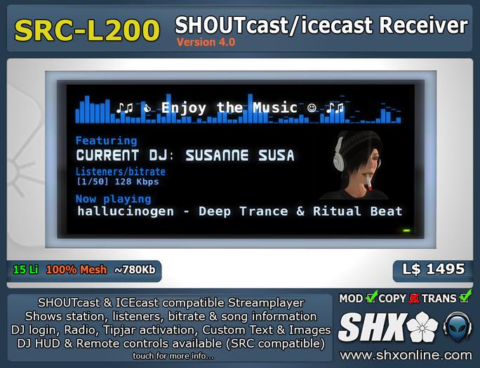 SHX - SHOUTcast & ICEcast Receiver SRC-L200