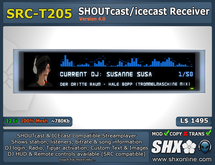 SHX - SHOUTcast board and ICEcast Receiver - SRC-T205