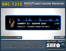 SHX - SHOUTcast board and ICEcast Receiver - SRC-T215