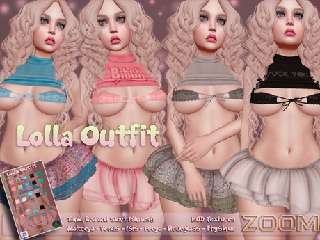 zOOm - Lolla Outfit for Maitreya, Venus, Isis, Freya, Hourglass and Physique