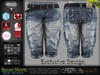 Bacon Male Mens Blue Denim Jeans Shorts Pants - Mesh - TMP, Adam, Slink, Aesthetic, Signature, Belleza Jake.