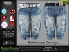 Bacon Male Mens Light Blue Denim Jeans Shorts Pants - Mesh - TMP, Adam, Slink, Aesthetic, Signature, Belleza Jake.